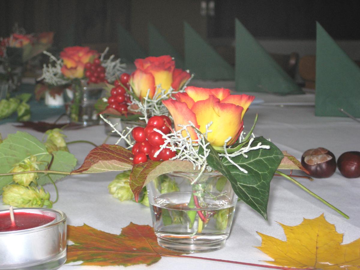 Tischdekoration Und Tischgestecke F R Veranstaltungen Ich