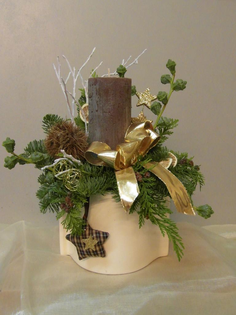 Floristik chemnitz blumengruss schenken for Weihnachtsgestecke aus naturmaterialien